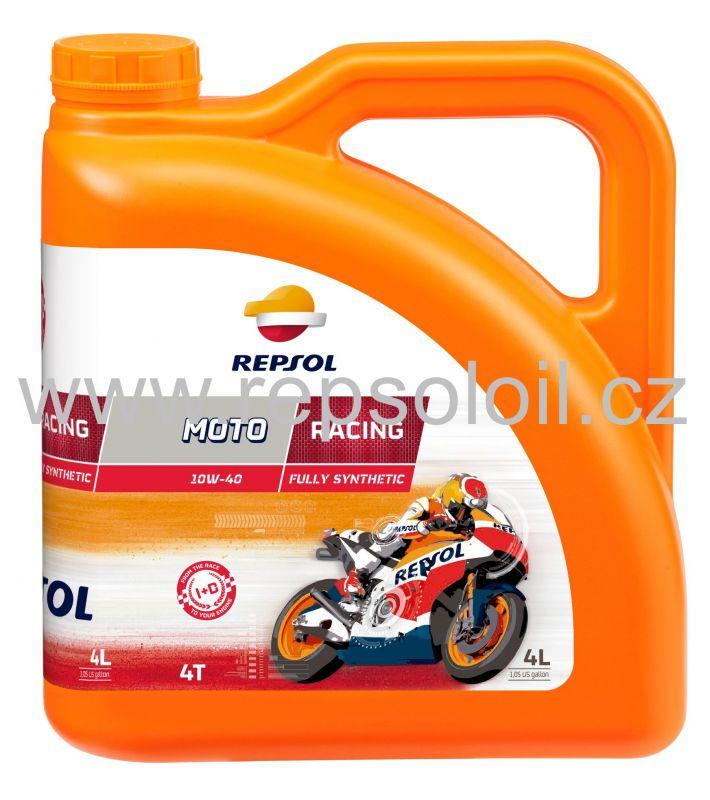 REPSOL MOTO RACING 4 T 10W40 4l +zdarma Moto Chain Lube 0,4l