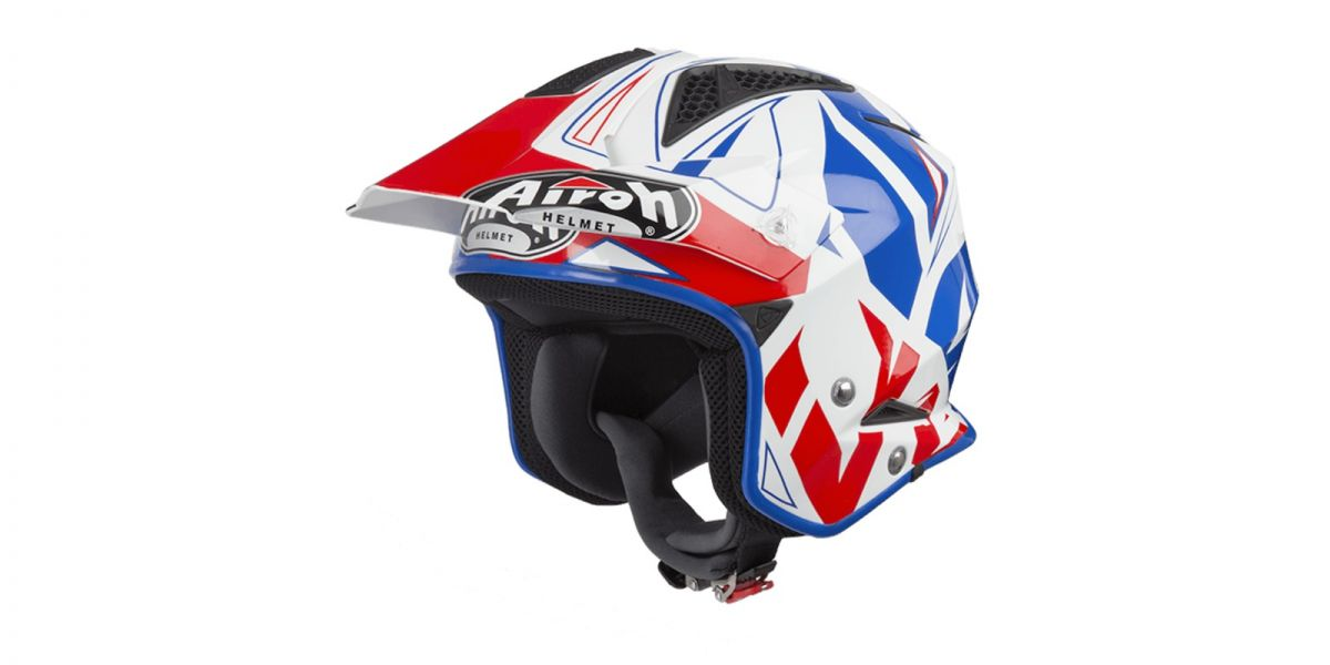 AIROH - přilba TRR S CONVERT - white/blue/red