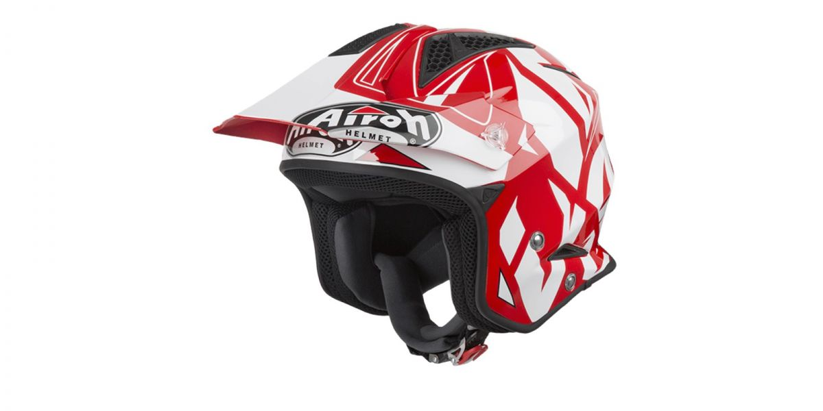 AIROH - přilba TRR S CONVERT - white/red