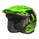 COMAS CT01 Race Moto Helmet GREEN