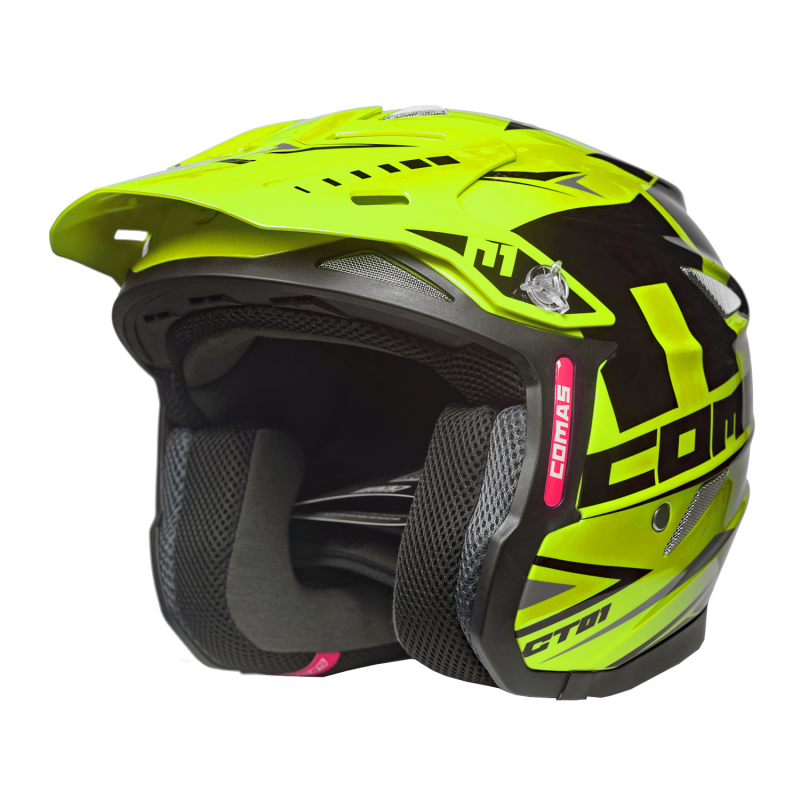 COMAS CT01 Race Moto Helmet YELLOW