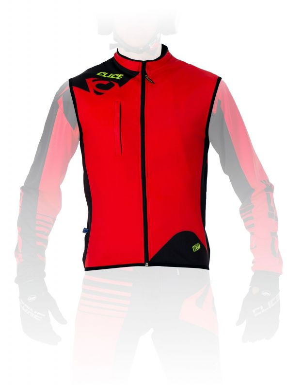 THERMAL SPANDEX VEST - Red CLICE